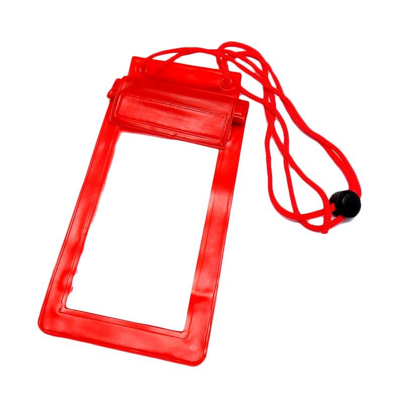 Universal Waterproof Bag Casing for Smartphone - Merah [4.5 Inch]