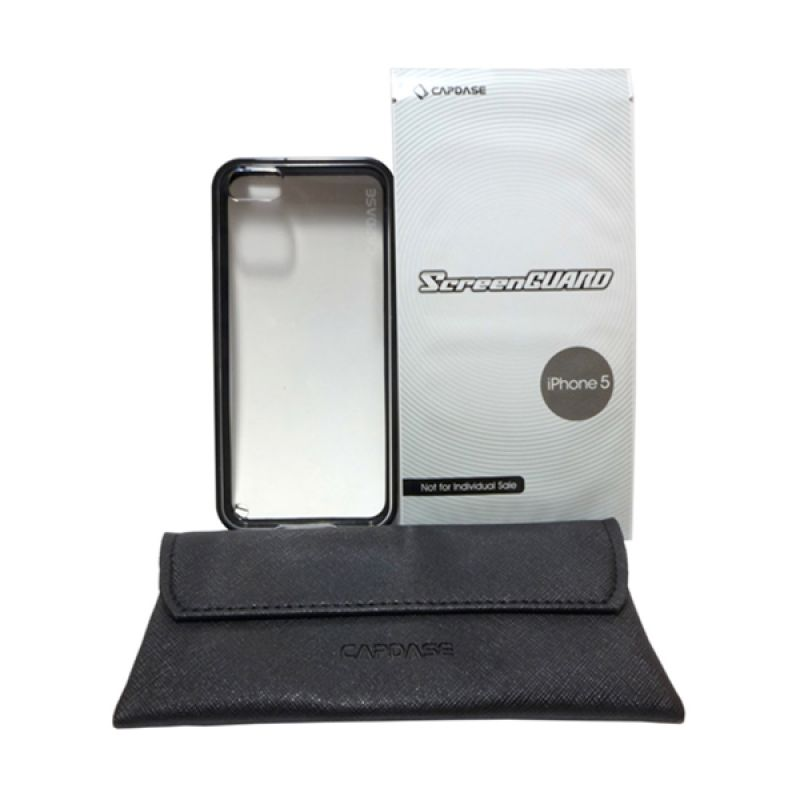 Capdase Soft Jacket Silicon Case Fuze DS C-Solid Black Casing for iPhone 5/5s