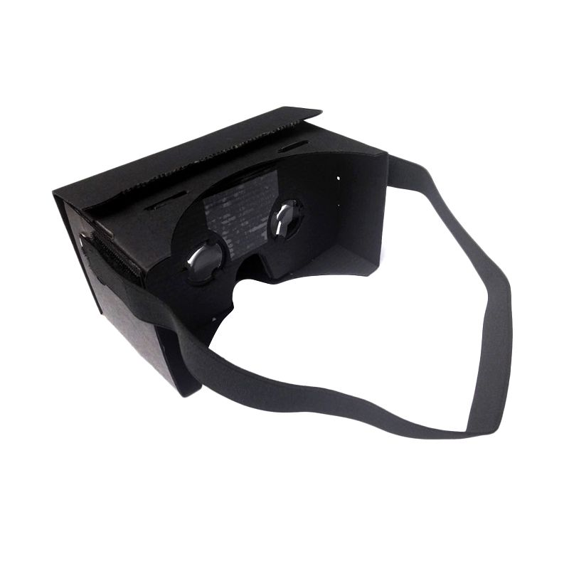 Google VR Premium Black Cardboard Kacamata 3D