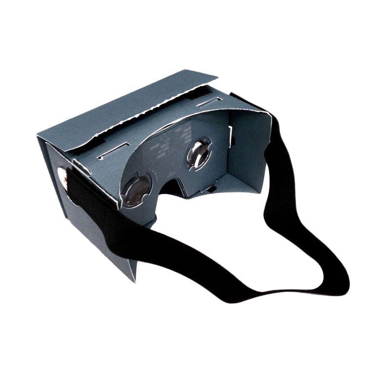 Google VR Premium Blue Cardboard Kacamata 3D [Large]