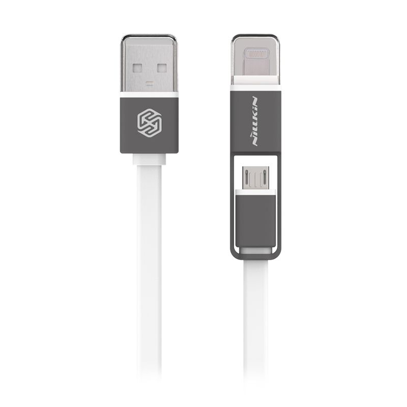 Hippo Cable Micro USB Colorful Fast Charge White (100cm)