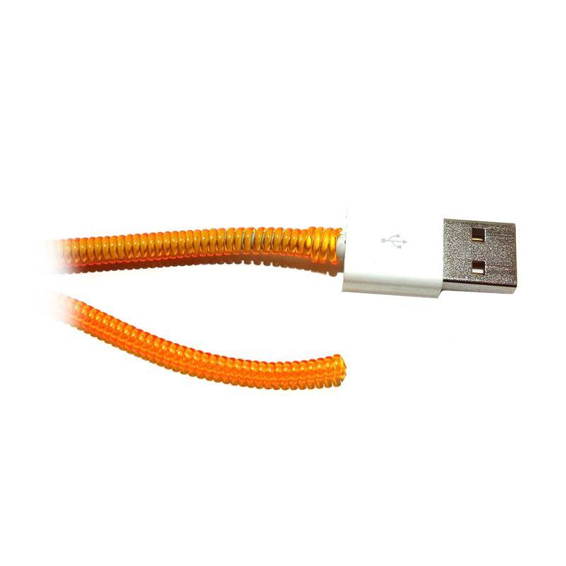 Keprot Transparant Orange Pelindung Kabel [40 cm]