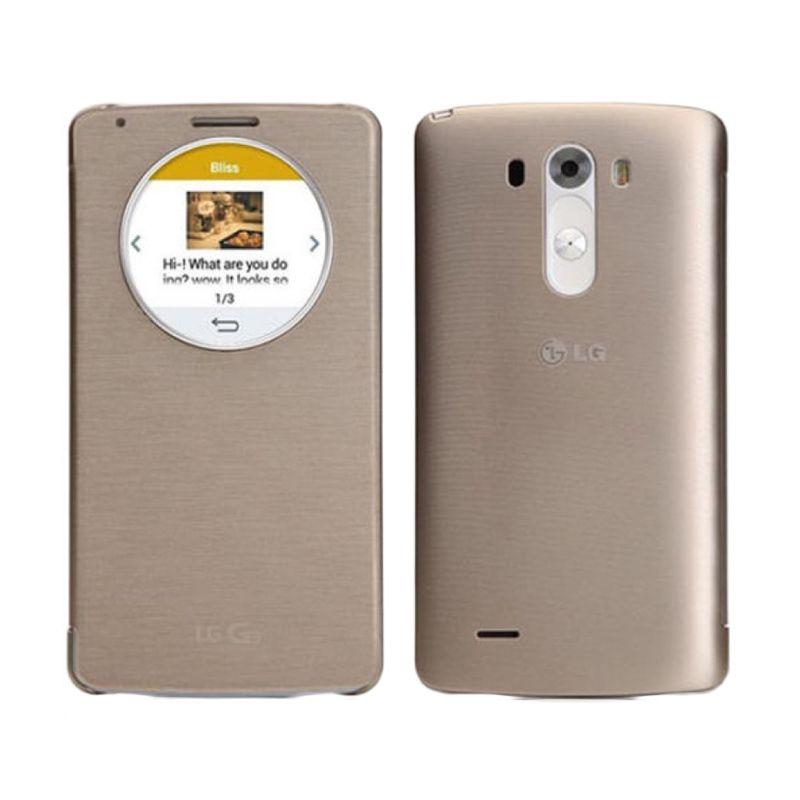 LG Quick Circle Shine Gold Casing for LG G3 Shine
