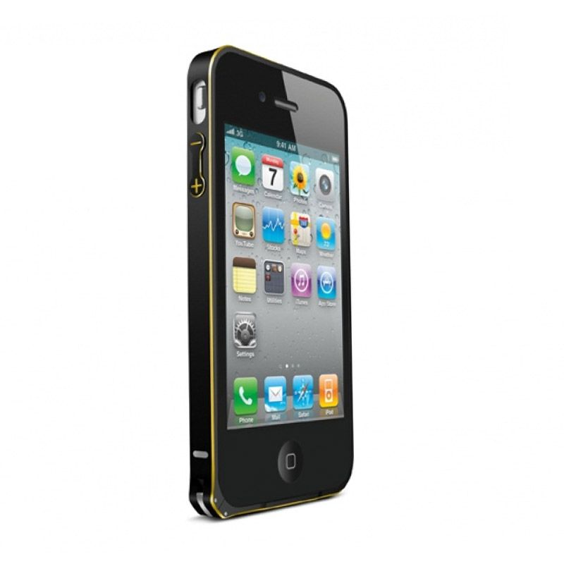 Love Mei Metal Bumper Black Casing for iPhone 4 or 4s
