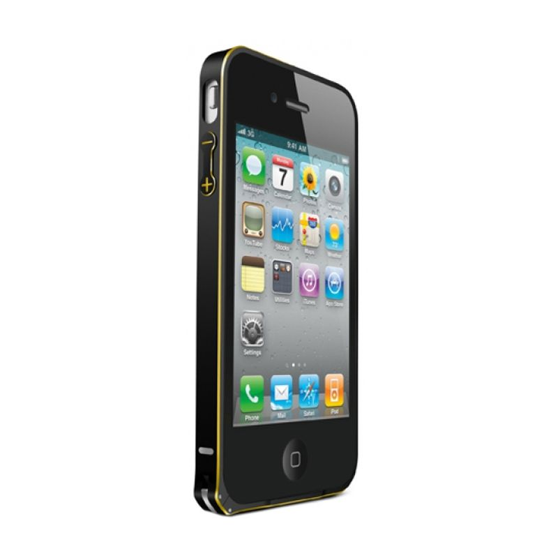 Love Mei Metal Bumper Black Casing for iPhone 5 or 5s