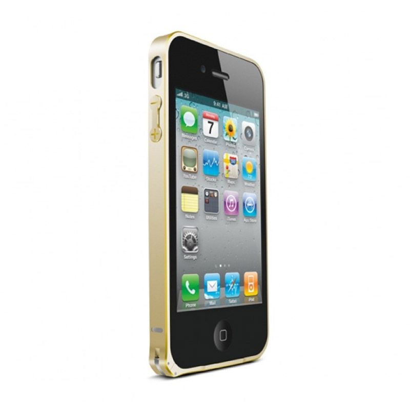 Love Mei Metal Bumper Gold Casing for iPhone 4 or 4s