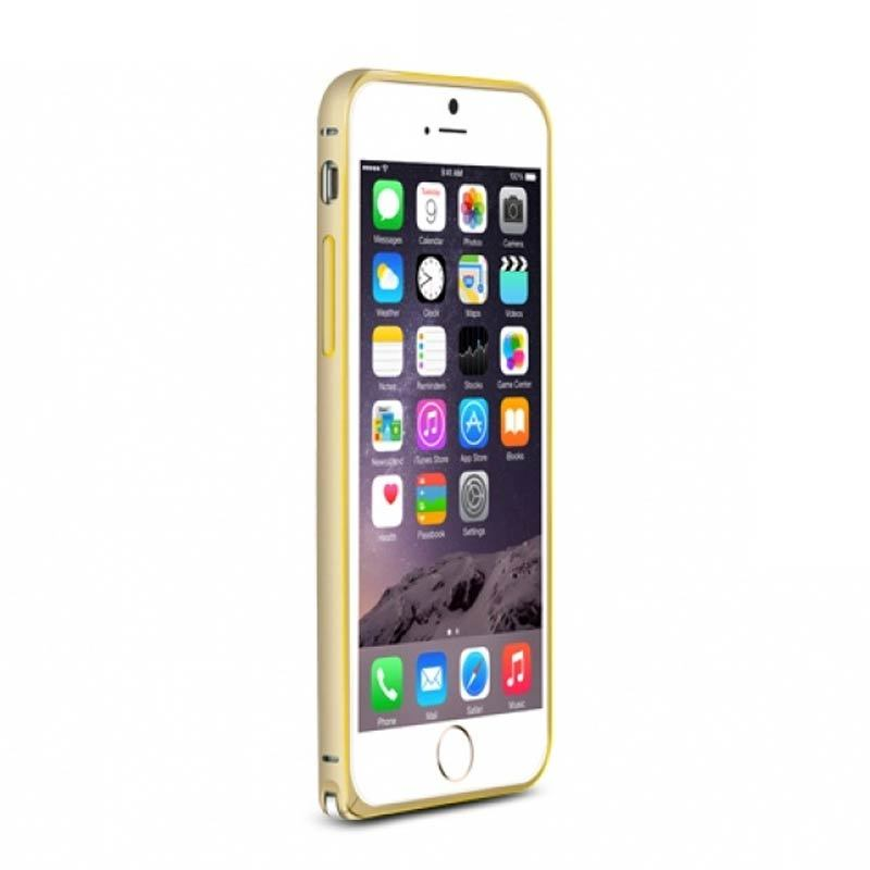 Love Mei Metal Bumper Gold Casing for iPhone 6