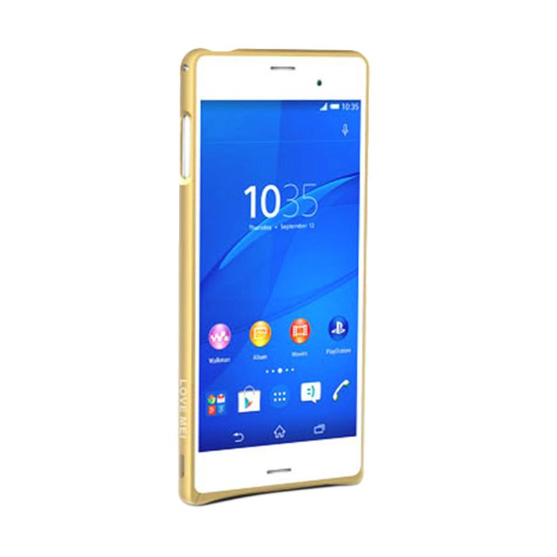 Love Mei Metal Gold Casing for Sony Xperia Z3
