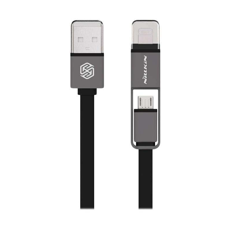 Nillkin Dual Sync and Charge Black Cable Micro USB Plus Lightning [120 cm]
