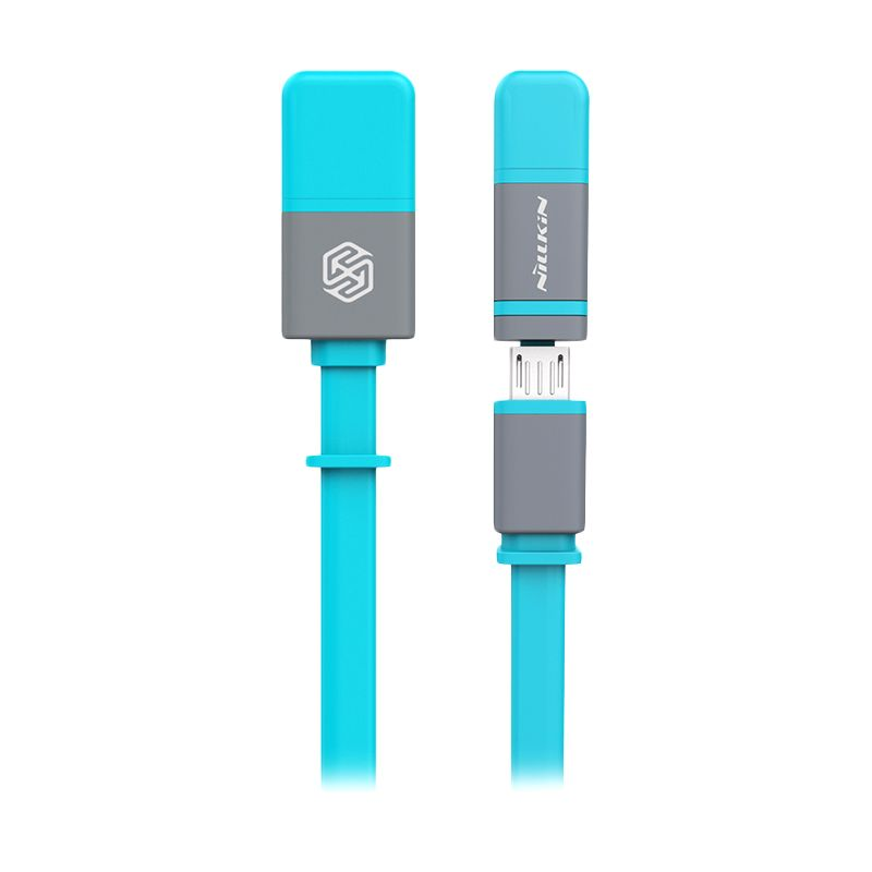 Nillkin Dual Sync and Charge Blue Cable Micro USB Plus 2 Lightning [120 cm]