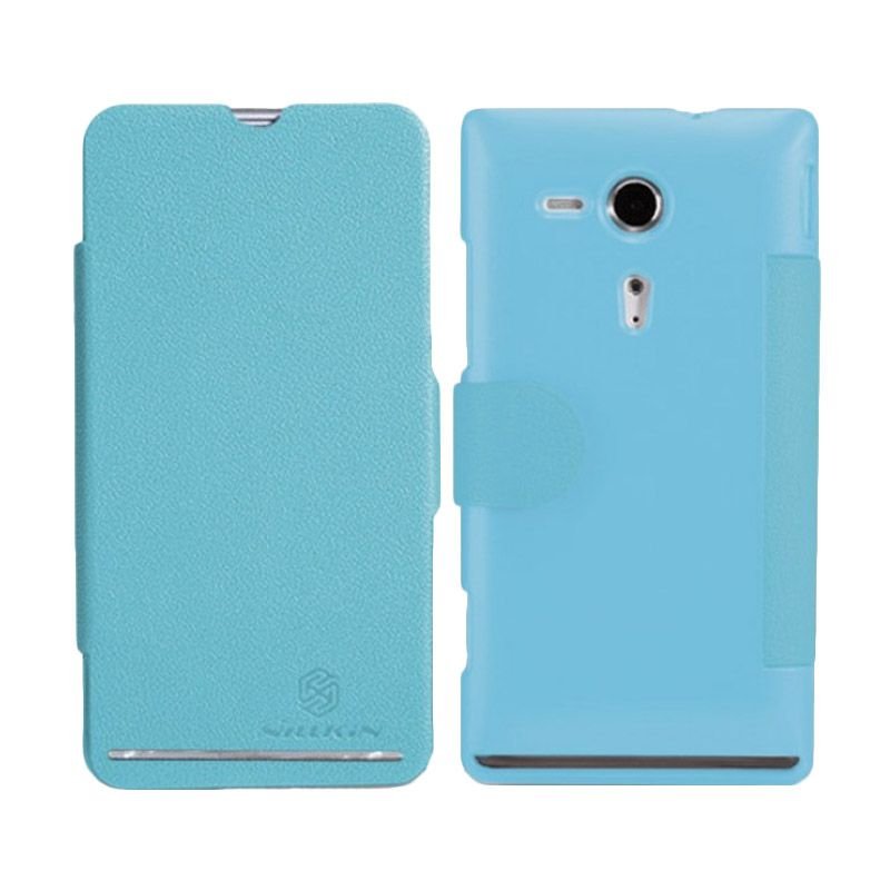 Nillkin Fresh Blue Flip Cover Casing for Sony Xperia SP