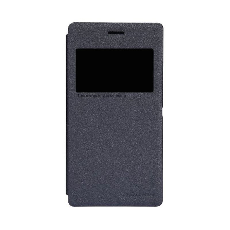 Nillkin Fresh Window Black Flip Cover Casing for Sony Xperia M2