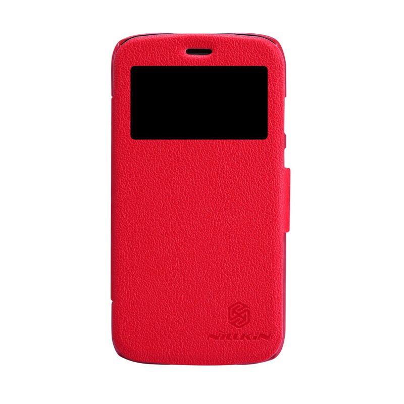 Nillkin Fresh Window Red Flip Cover Casing for Motorola Moto G