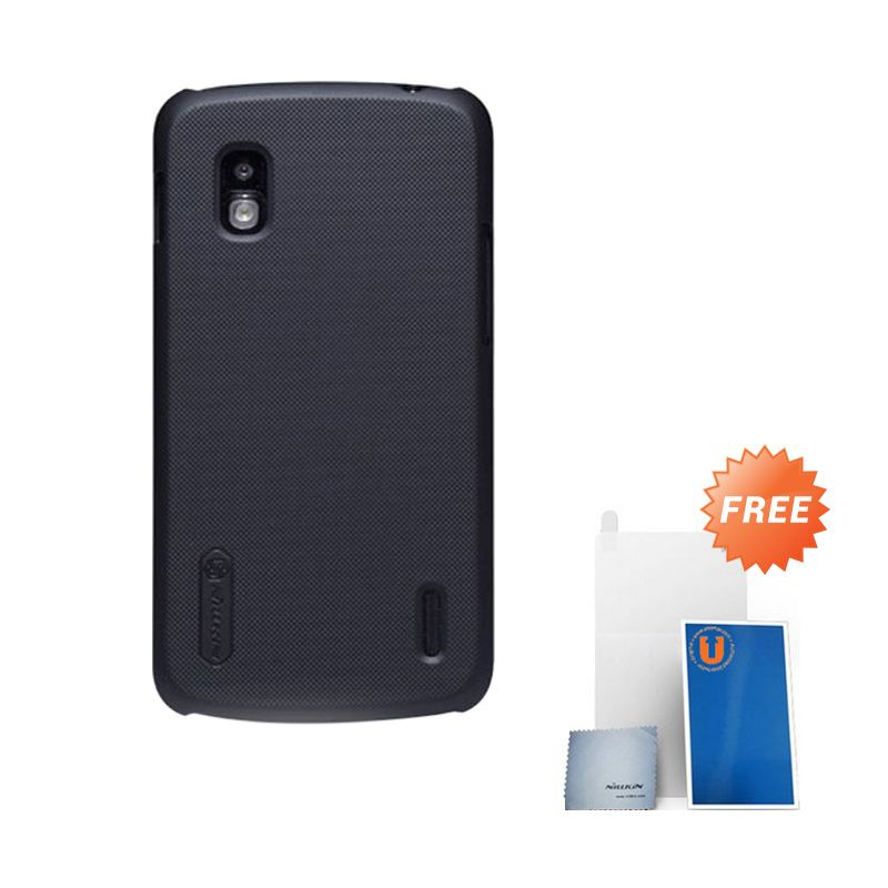 Nillkin Frosted Black Hard Case Casing for LG Nexus 4