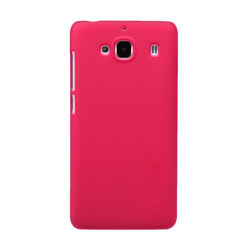 Nillkin Frosted Red Hard Case Casing for Xiaomi Redmi 2 + Screen Protector