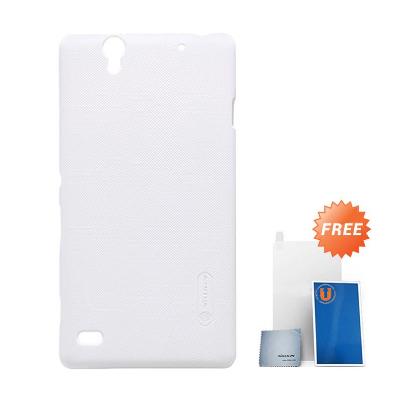 Nillkin Frosted White Hard Case Casing Sony Xperia C4 + Screen Protector