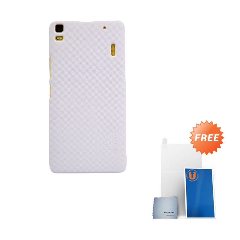 Nillkin Frosted White Hard Case Casing for Lenovo A7000
