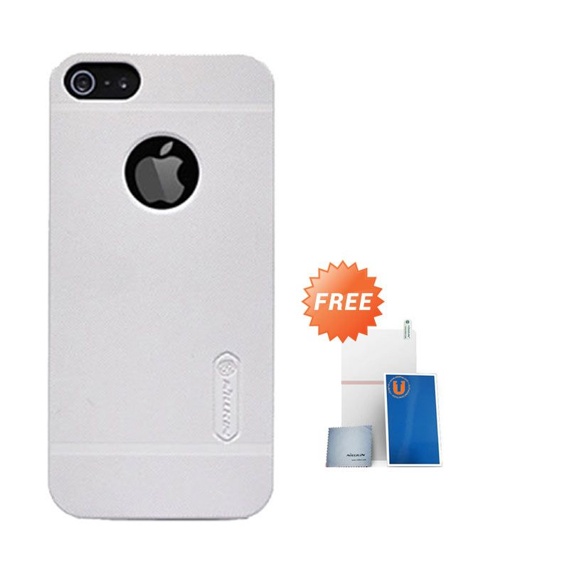 Nillkin Frosted White Hard Case Casing for iPhone 5 or 5s