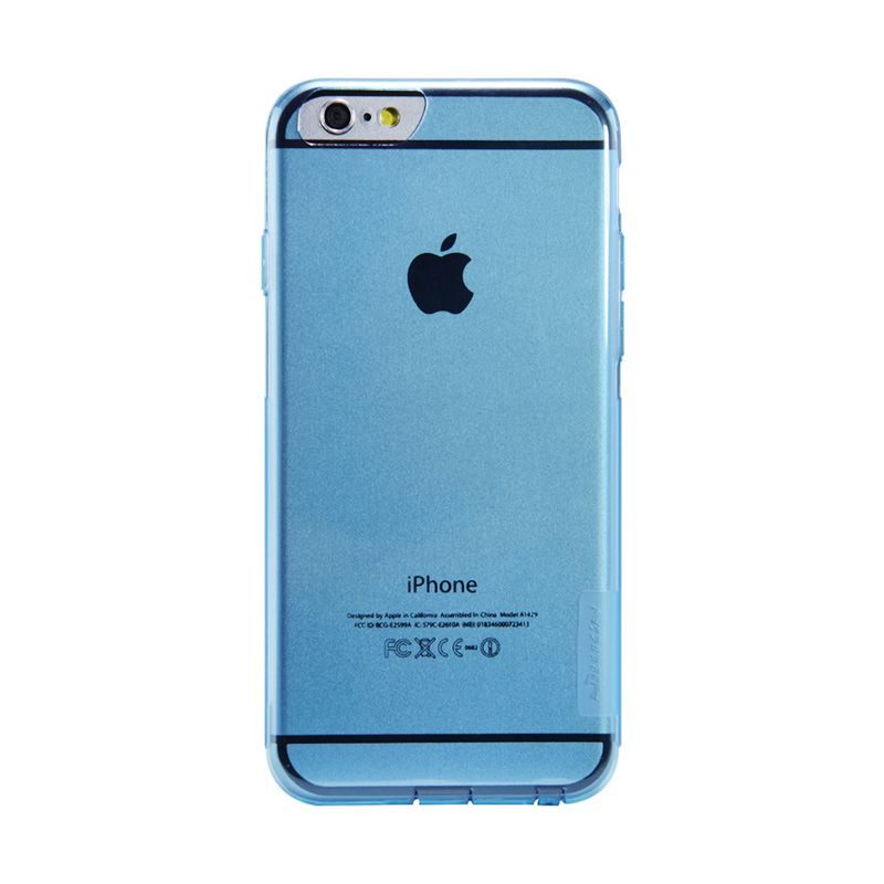 Nillkin Softcase Blue Casing For iPhone 6