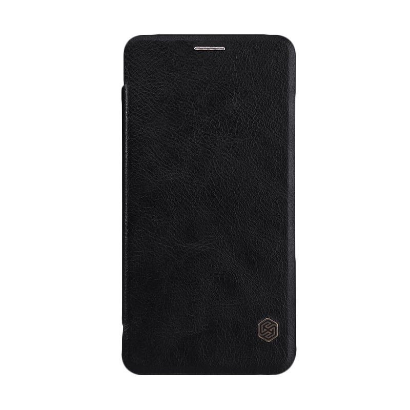Nillkin Qin Quick Circle Black Leather Casing for Galaxy Note5