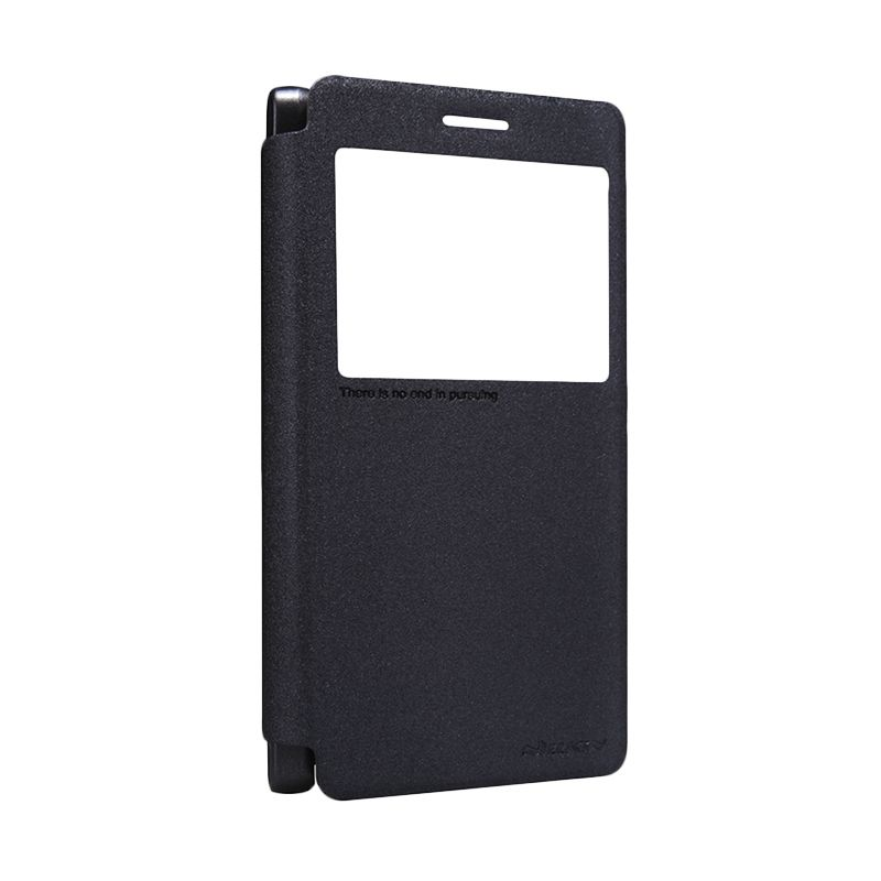 Nillkin Sparkle Black Flip Cover Casing for Lenovo A7000
