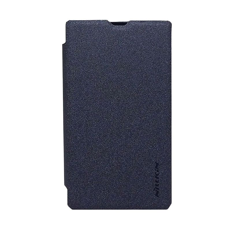 Nillkin Sparkle Black Flip Cover Casing for Nokia X