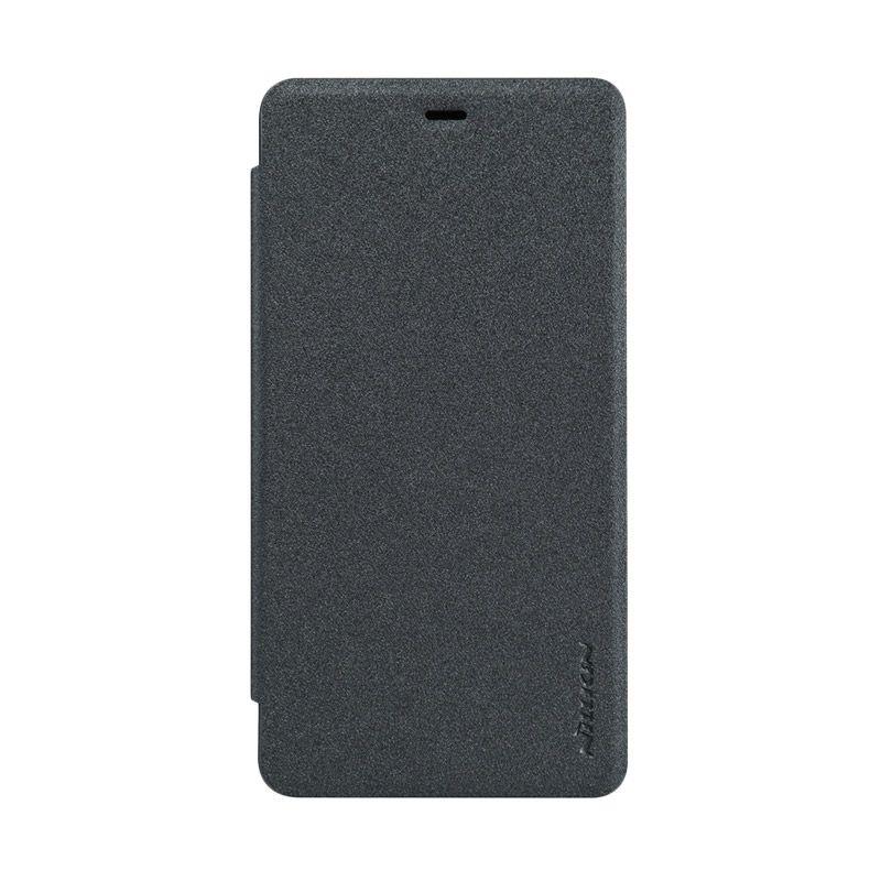 Nillkin Sparkle Black Flip Cover Casing for Xiaomi Mi4i