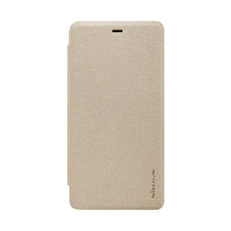 Nillkin Sparkle Gold Flip Cover Casing for Xiaomi Mi4i