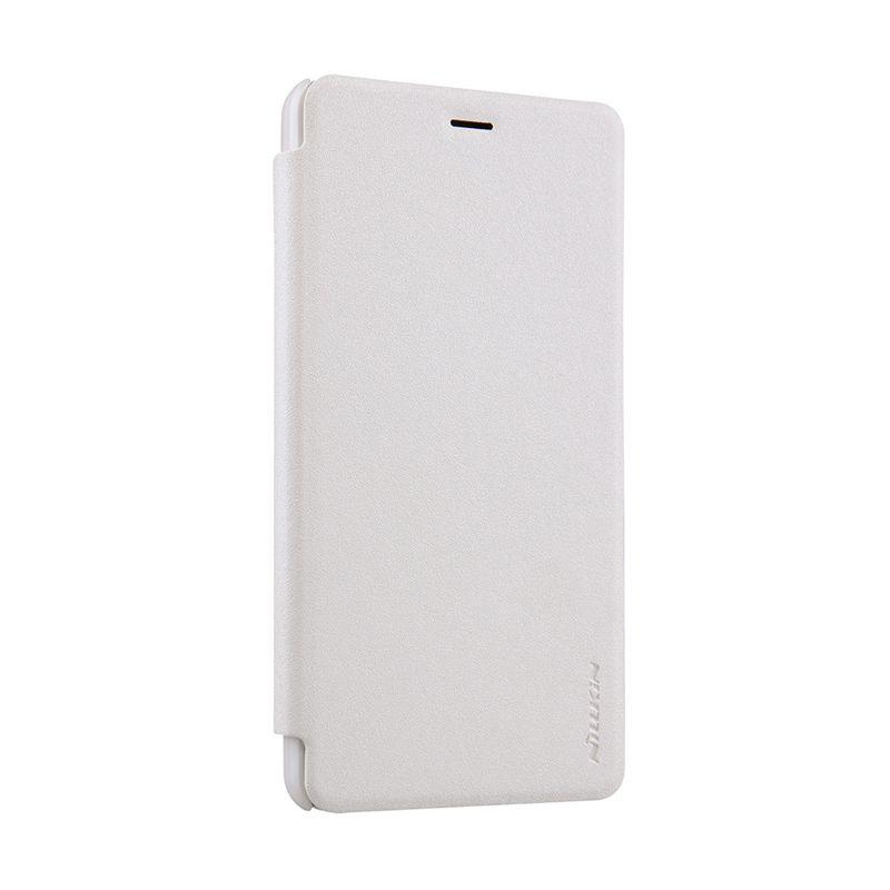 Nillkin Sparkle Flip Cover White Casing for Xiaomi Redmi Note 2