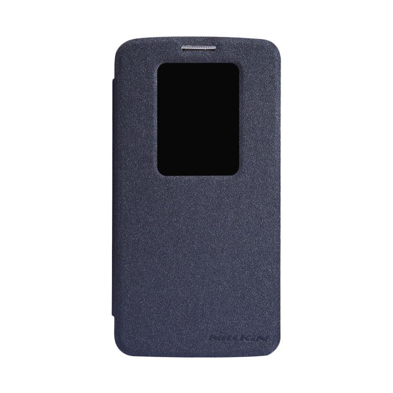 Nillkin Sparkle Window Black Flip Cover Casing for LG G2