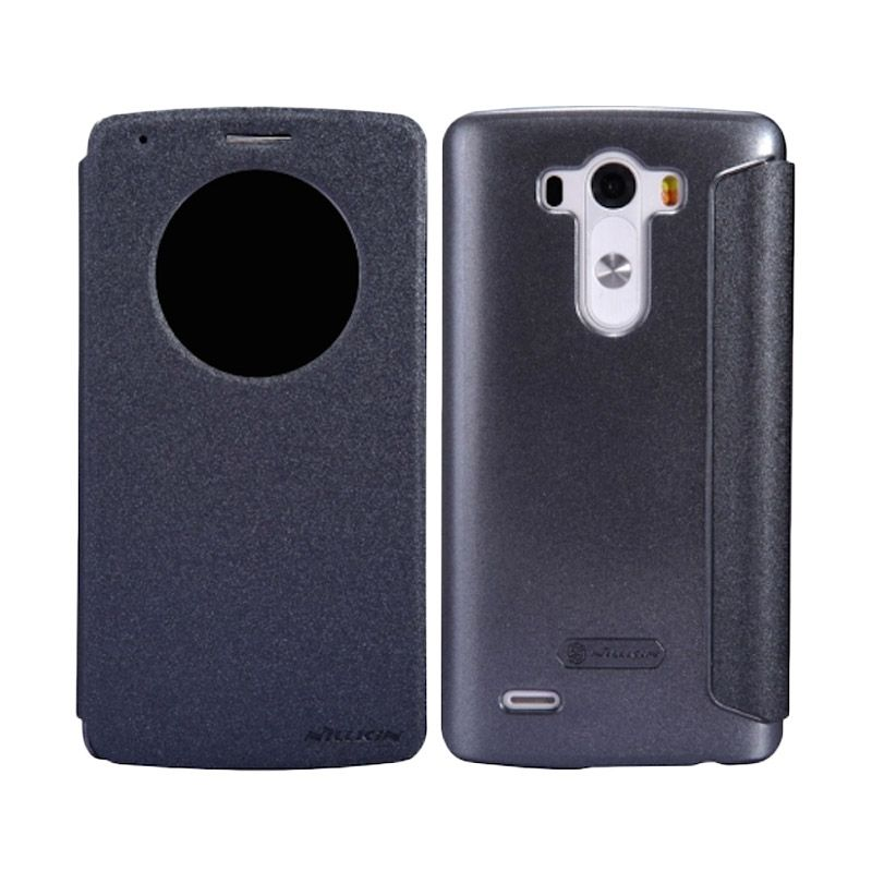 Nillkin Sparkle Window Black Flip Cover Casing for LG G3