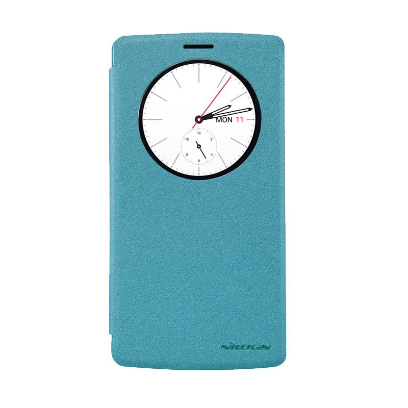 Nillkin Sparkle Window Blue Flip Cover Casing for LG G4