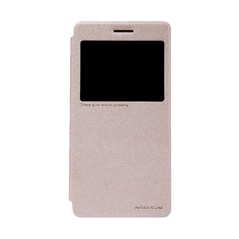 Nillkin Sparkle Window Gold Flip Cover Casing for Lenovo A7000