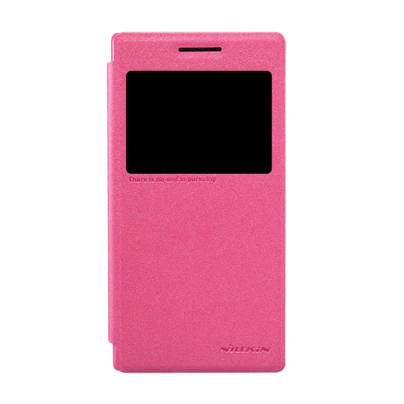 Nillkin Sparkle Window Pink Flip Cover Casing for Lenovo P70