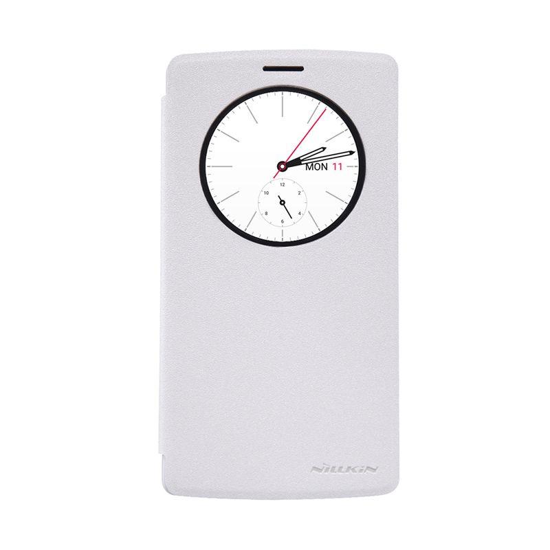 Nillkin Sparkle Window White Flip Cover Casing for LG G4
