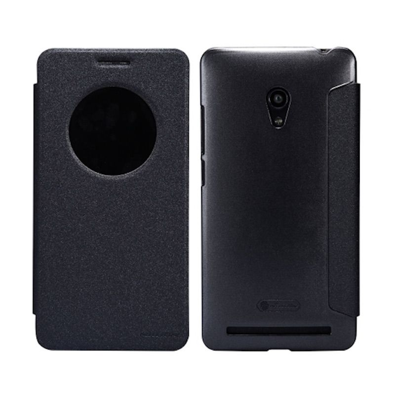 Nillkin Sparkle Window Flip Cover Black Casing for Asus Zenfone 6