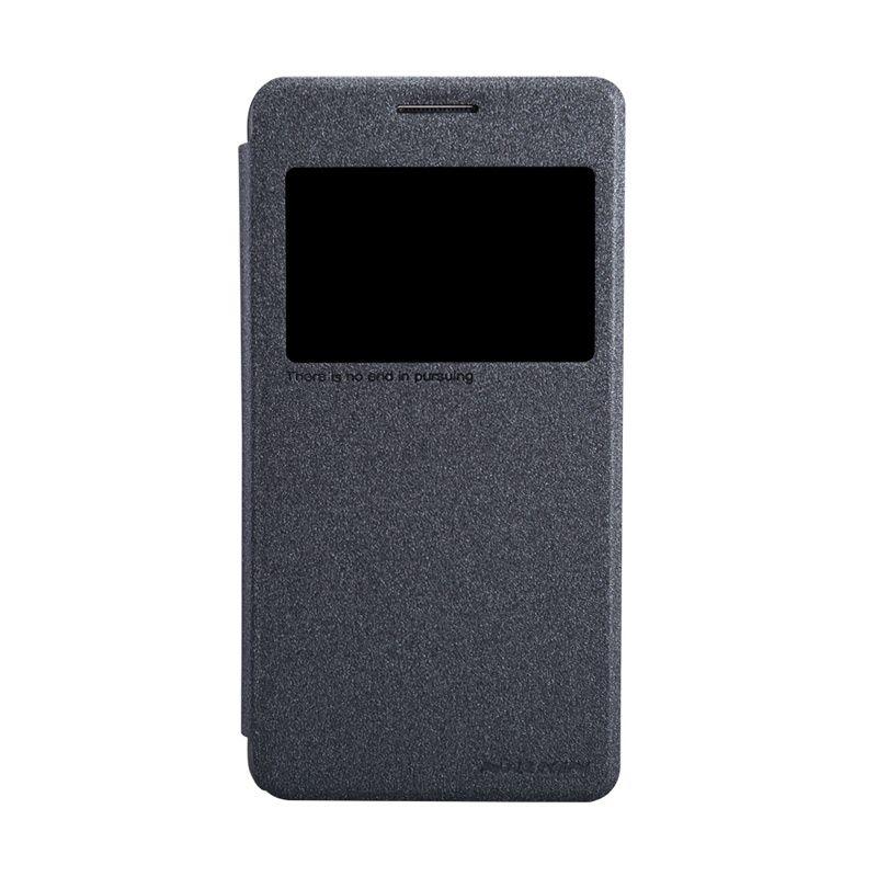 Nillkin Sparkle Window Flip Cover Black Casing for Samsung Galaxy Grand Prime