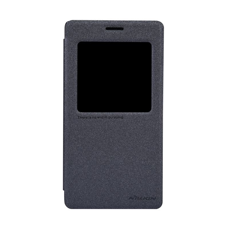 Nillkin Sparkle Window Flip Cover Black Casing for Xiaomi Redmi Note