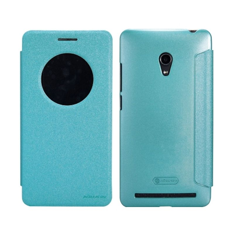 Nillkin Sparkle Window Flip Cover Blue Casing for Asus Zenfone 6