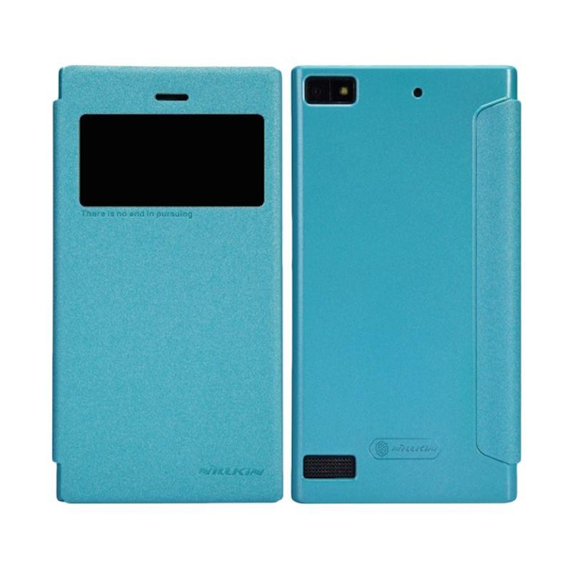 Nillkin Sparkle Window Blue Flip Cover Casing for BlackBerry Z3