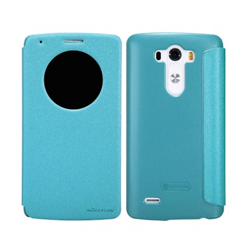 Nillkin Sparkle Window Flip Cover Blue Casing for LG G3