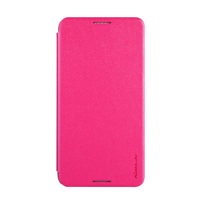 Nillkin Sparkle Window Flip Cover Rose Red Casing for HTC Desire 816