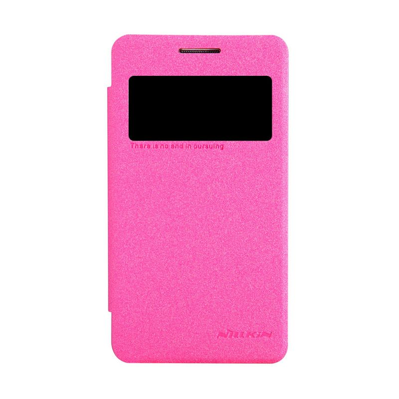 Nillkin Sparkle Window Flip Cover Rose Red Casing for Samsung Galaxy Core 2
