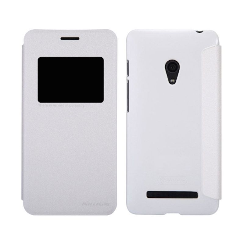 Nillkin Sparkle Window Flip Cover White Casing for Asus Zenfone 5