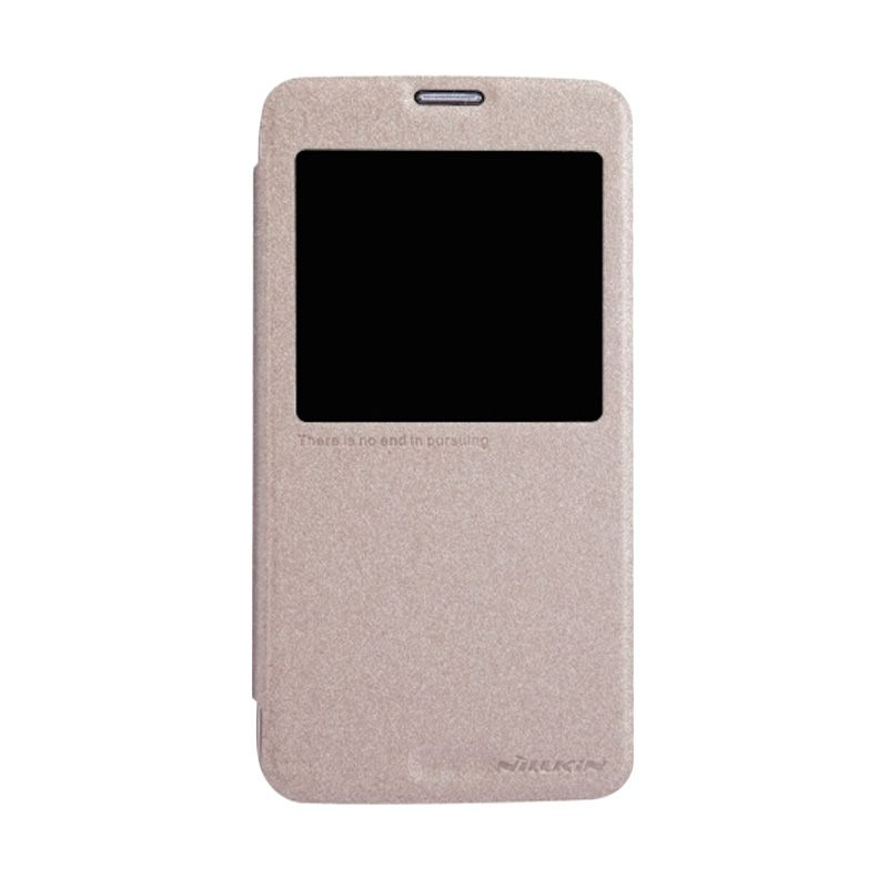 Nillkin Sparkle Window Gold Flip Cover Casing for Galaxy S5