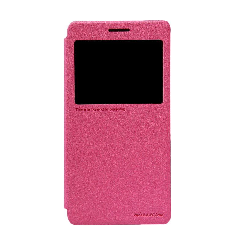 Nillkin Sparkle Window Rose Red Flip Cover Casing for Lenovo A7000