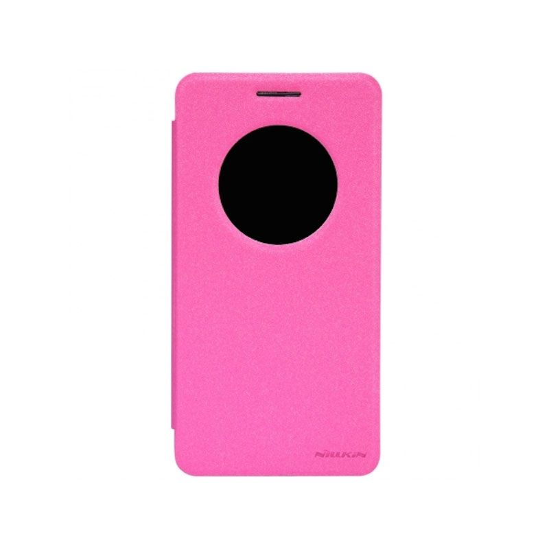 Nillkin Sparkle Window Flip Case Cover Asus Zenfone 6 Rose Red