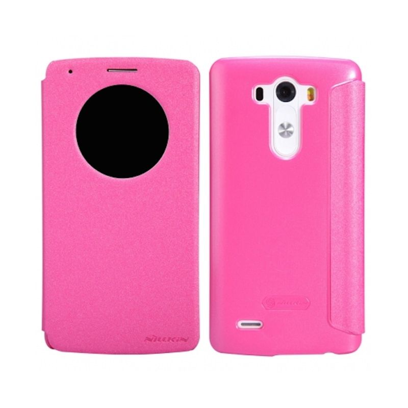 Nillkin Sparkle Window Rose Red Flip Cover Casing for LG G3