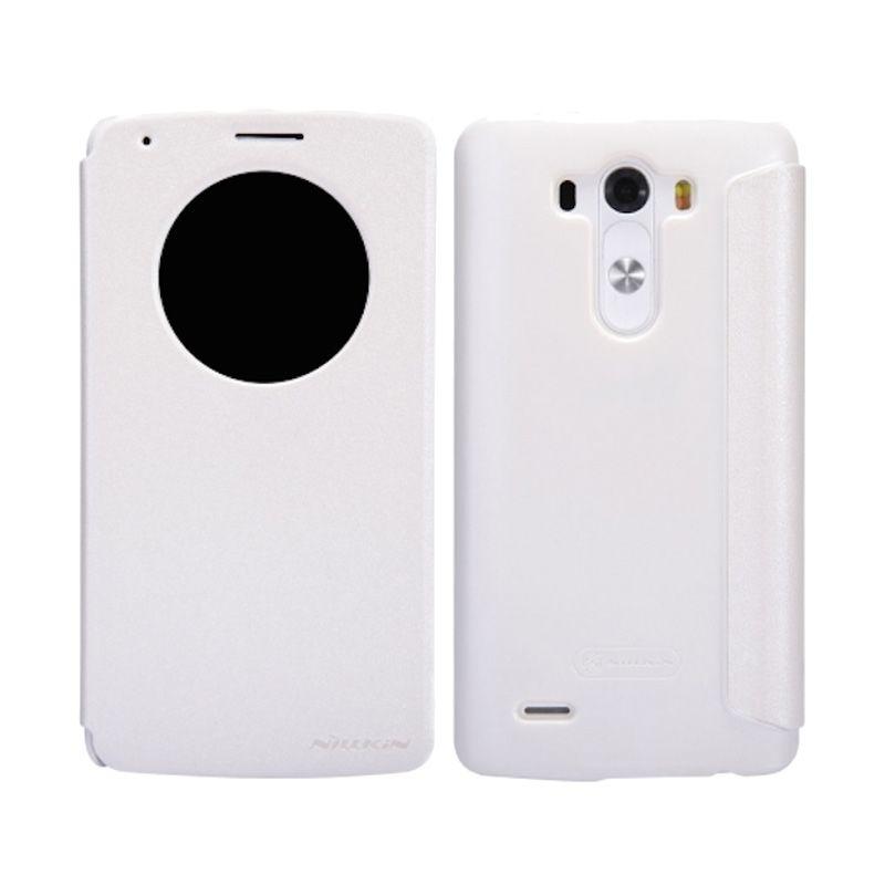 Nillkin Sparkle Window White Flip Cover Casing for LG G3