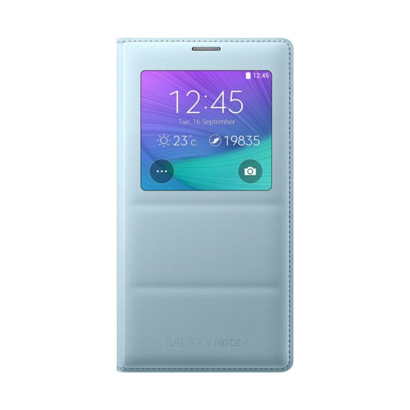Samsung S View Mint Flip Cover Casing for Galaxy Note 4